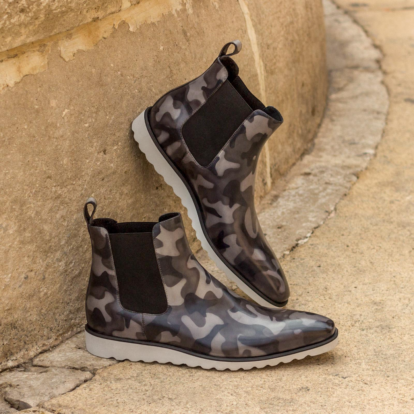 Chelsea boot grey camo patina : 360€