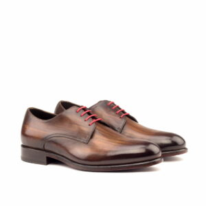 Derby hande made brown crust patina 1