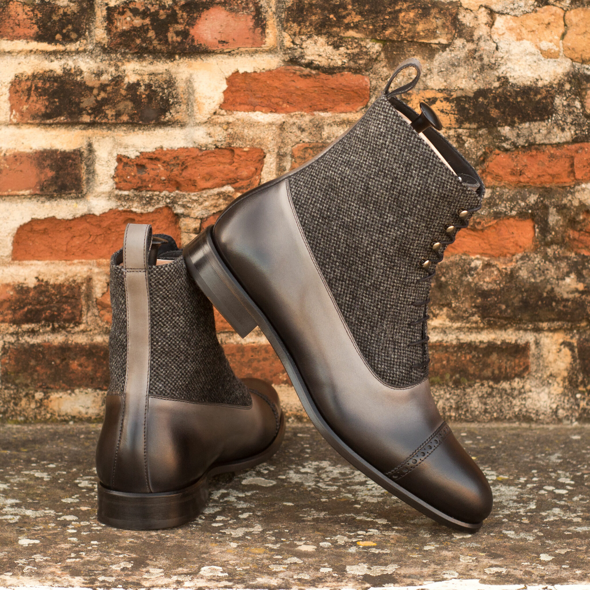 Balmoral boot nailhead sartorial + grey painted calf : 260€