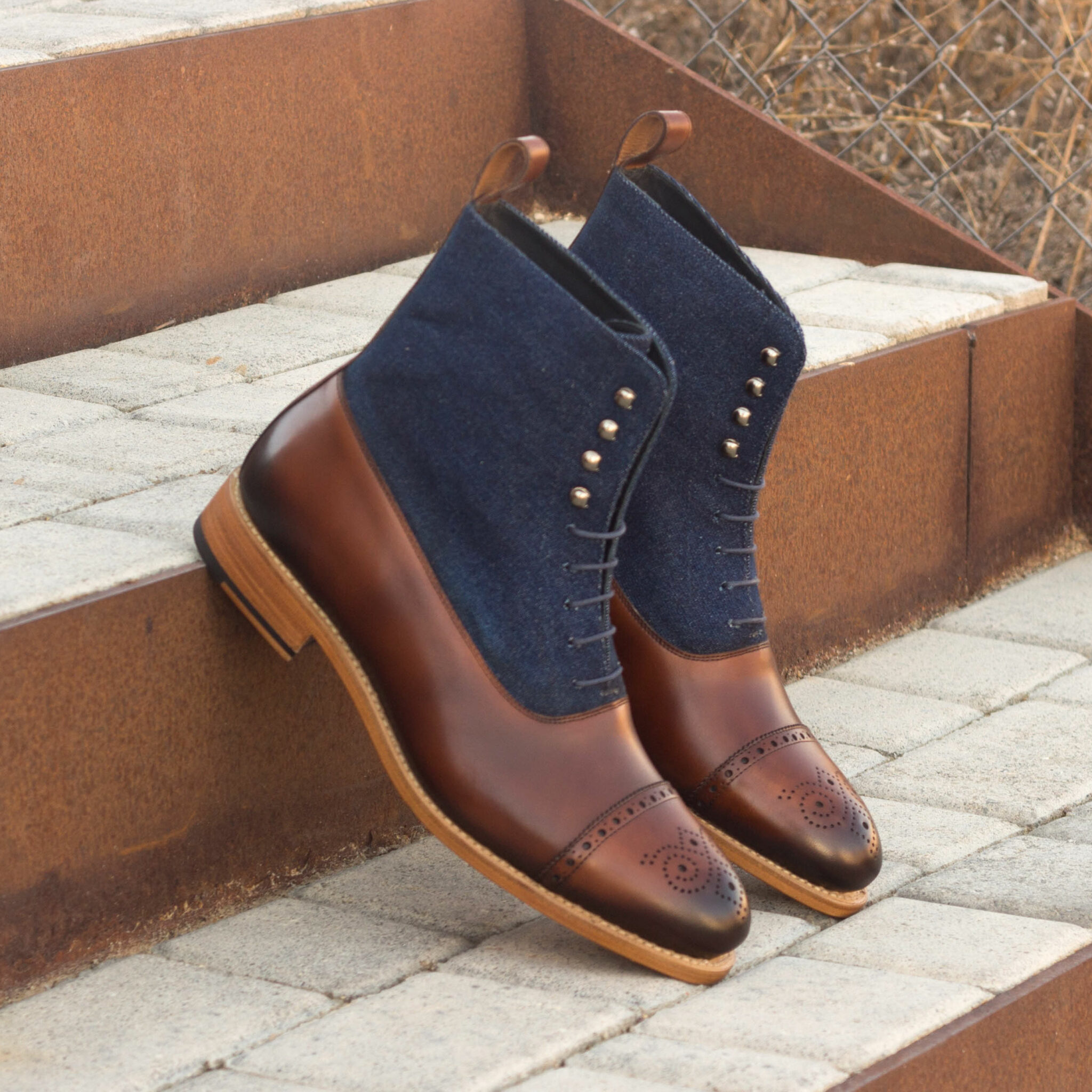 Balmoral boot jeans sartorial + med brown painted calf : 270€