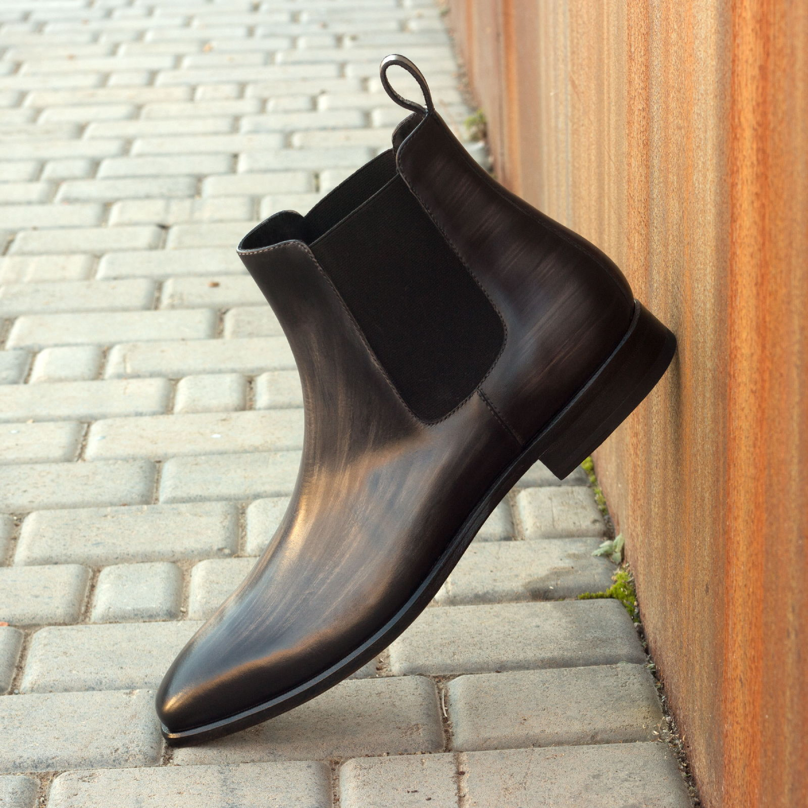 Chelsea boot grey crust patina : 360€