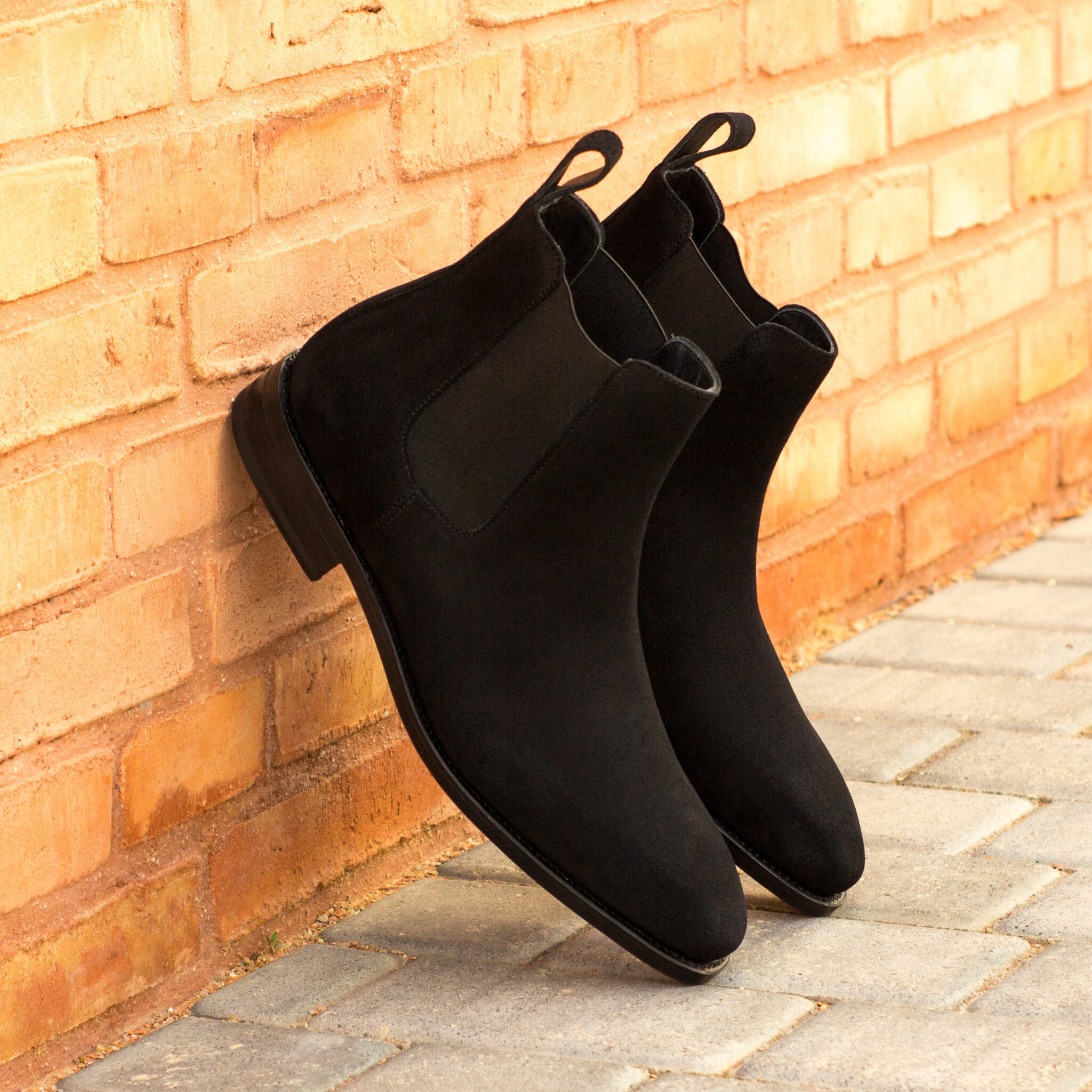 Chelsea boot black lux suede : 260€