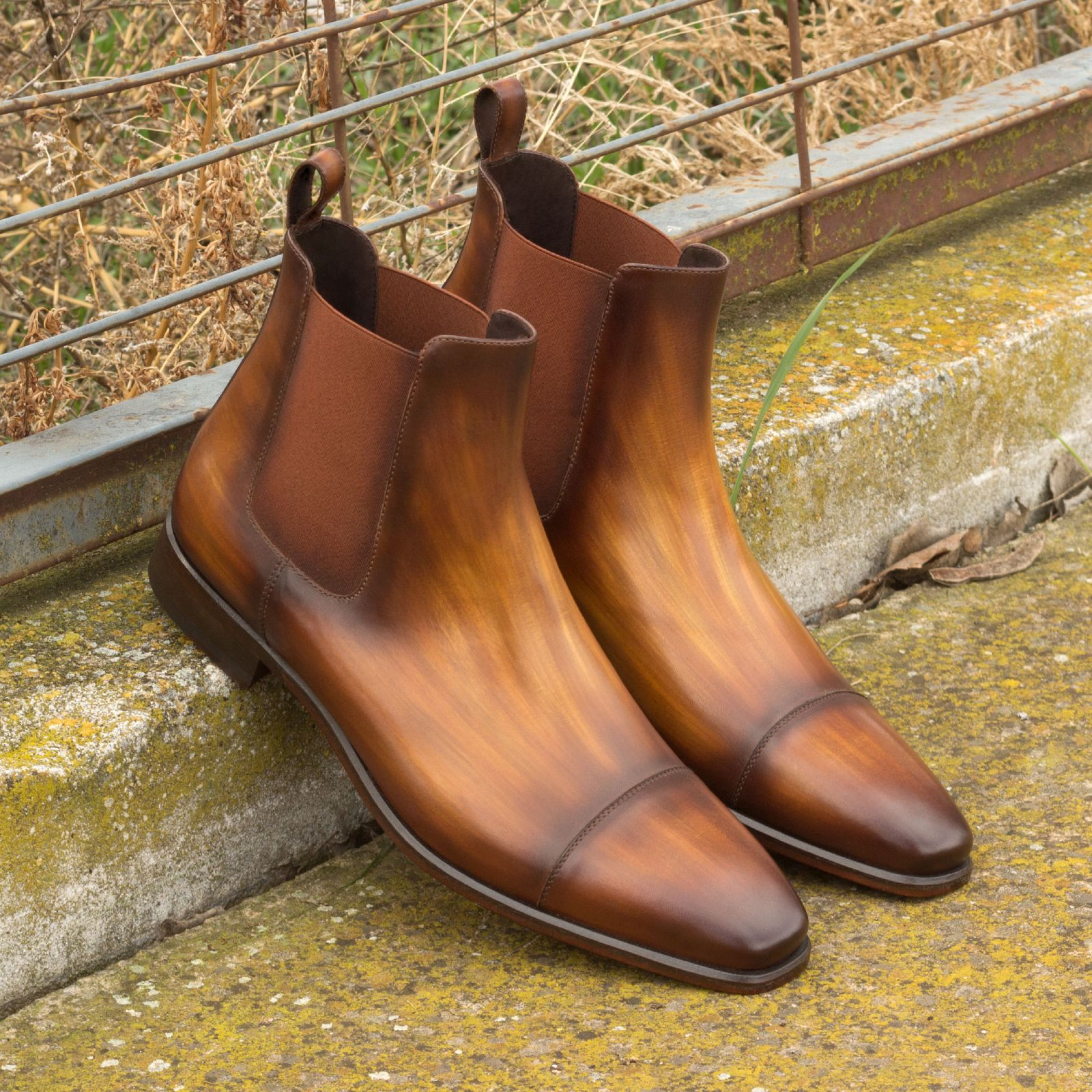 Chelsea boot  cognac crust patina : 360€