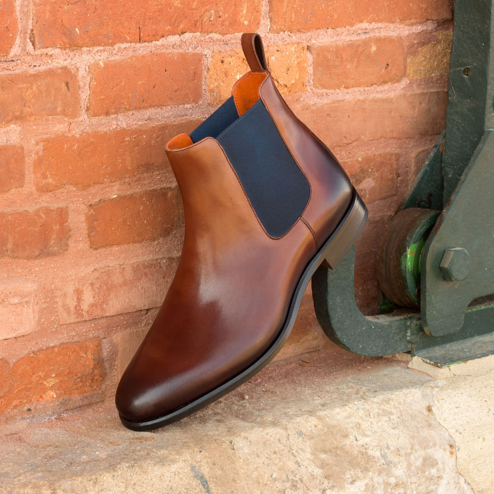 Chelsea boot med brown painted calf : 250€