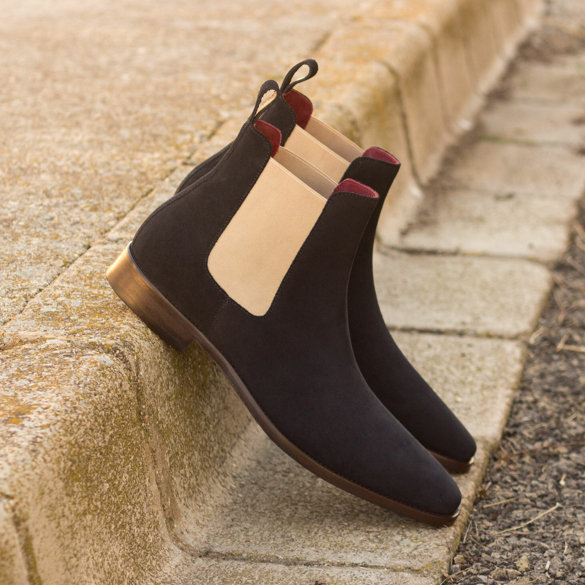 Chelsea boot navy lux suede : 250€