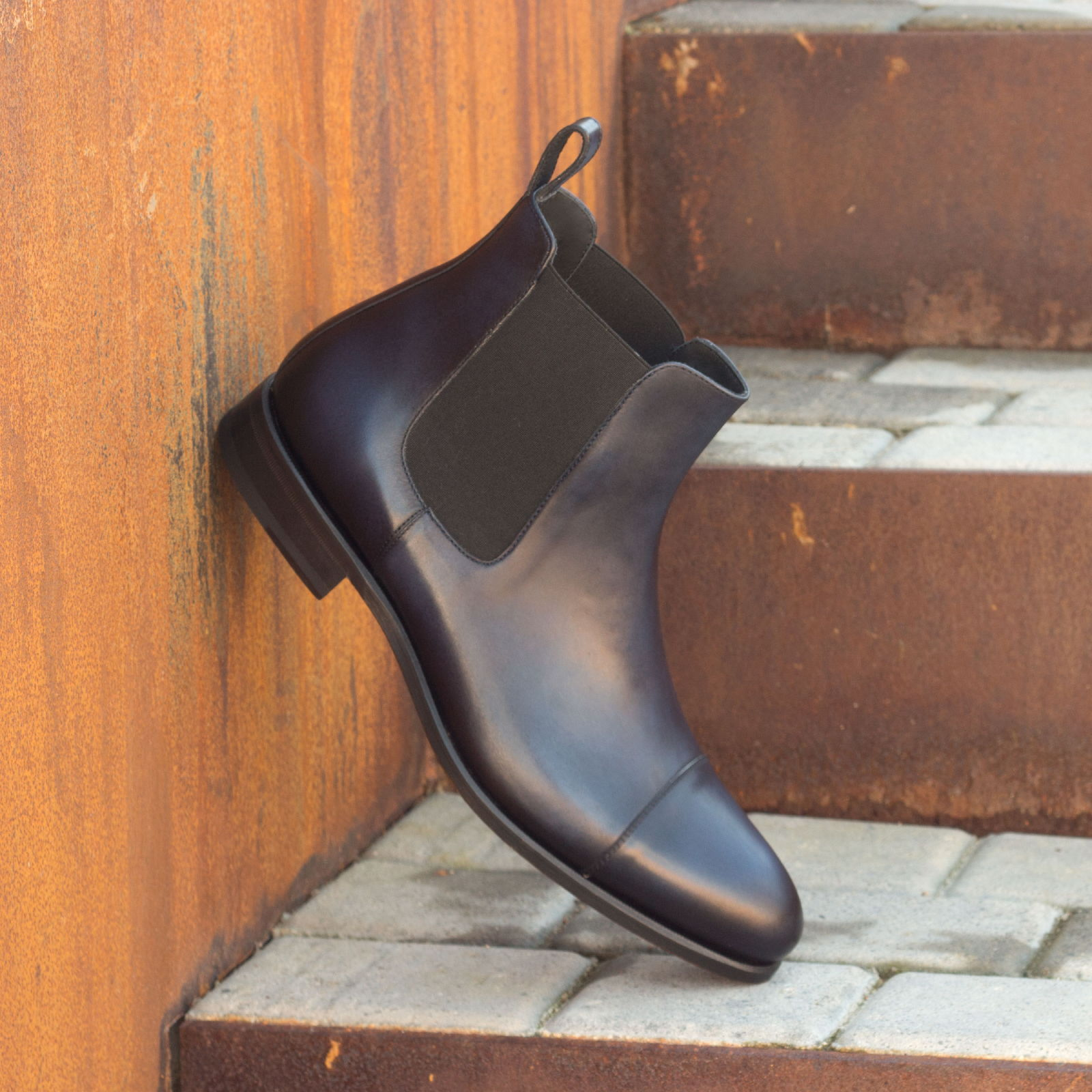 Chelsea boot navy painted calf : 250€