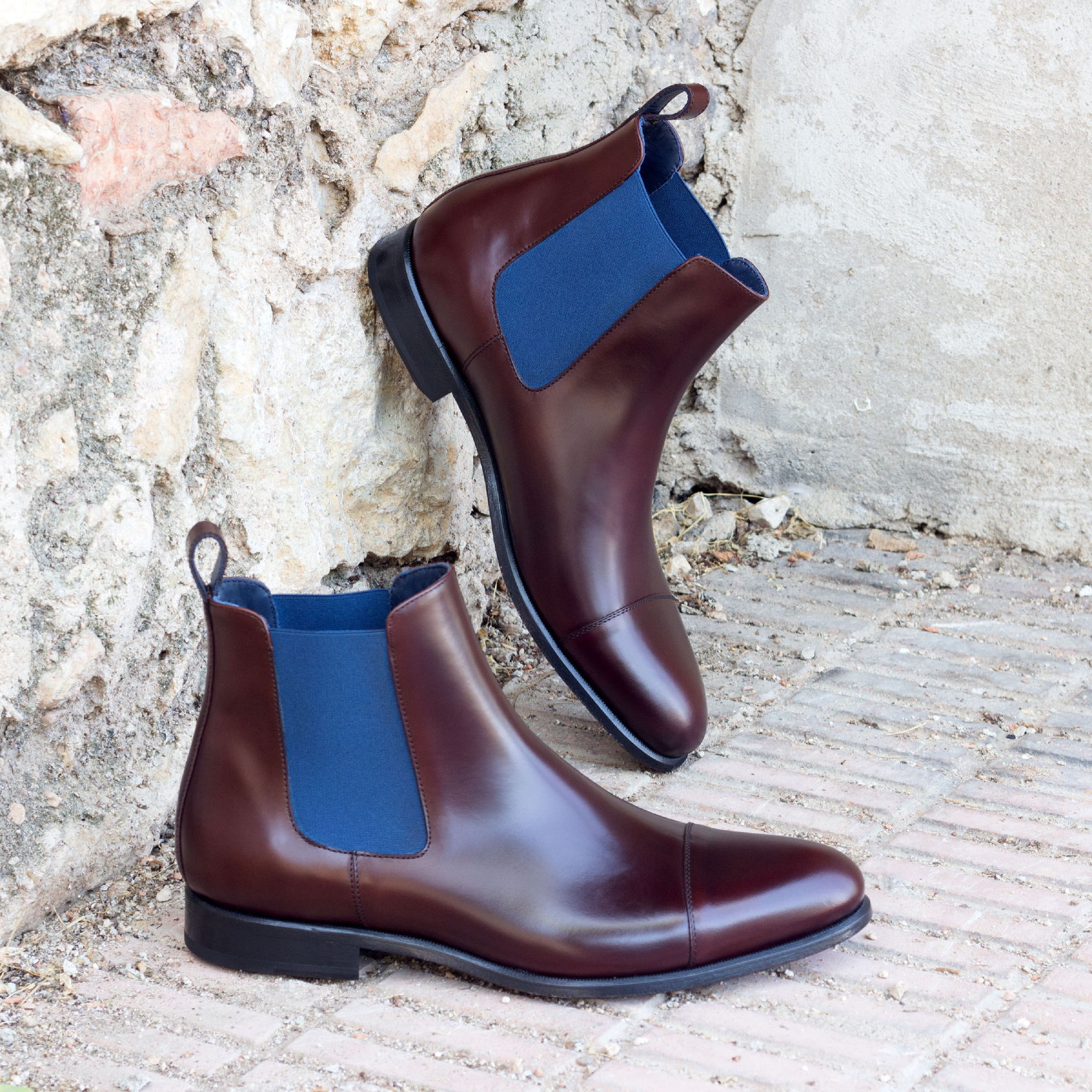 Chelsea boot med brown polished calf : 250€
