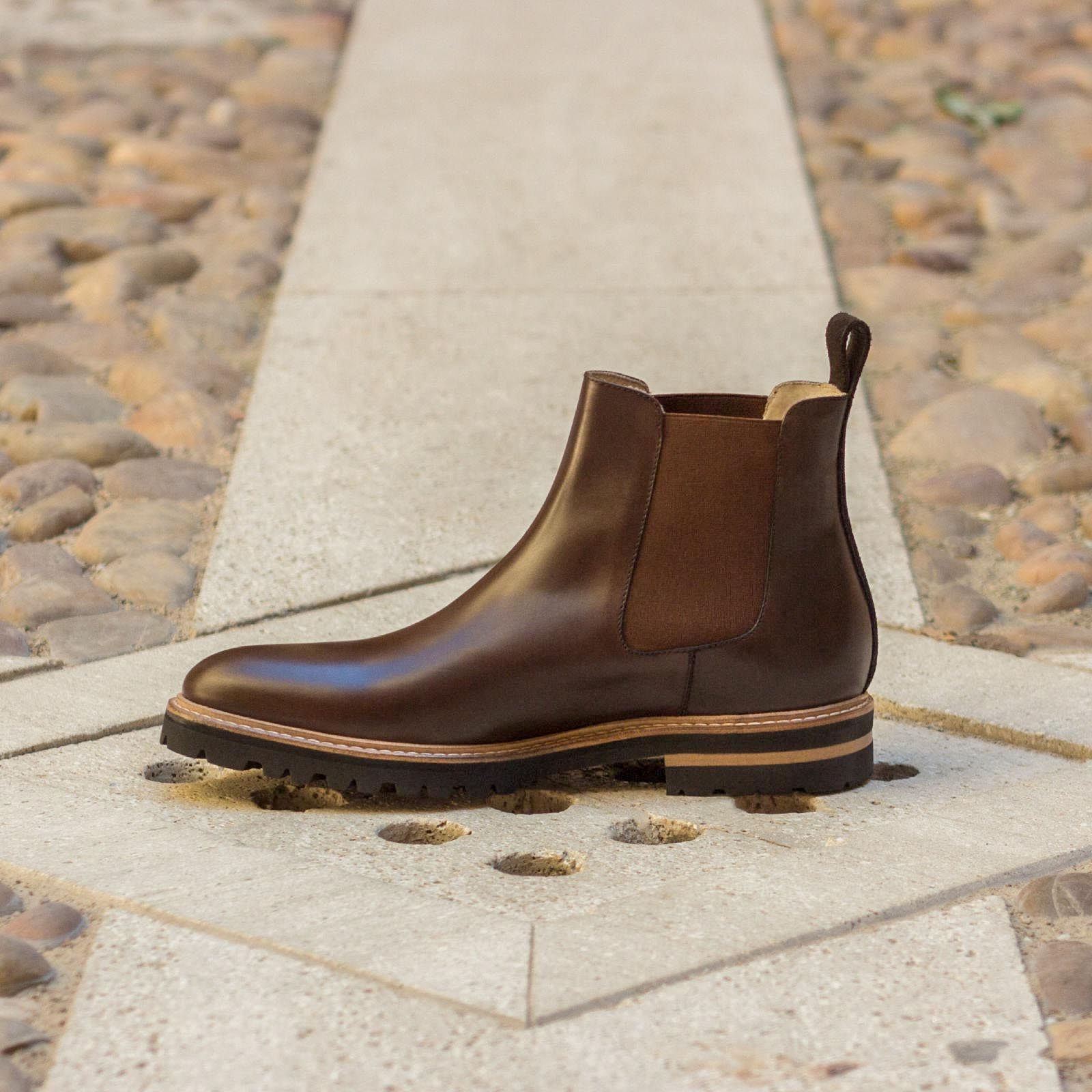 Chelsea boot dark brown lux suede + dark brown polished calf : 250€