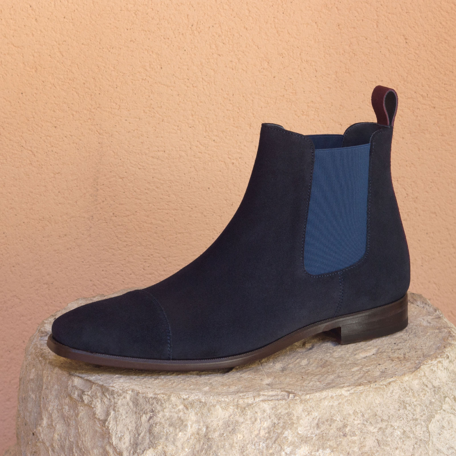 Chelsea boot navy lux suede + burgundy lux suede