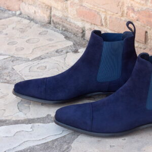 Chelsea boot navy lux suede + navy kid suede : 250€