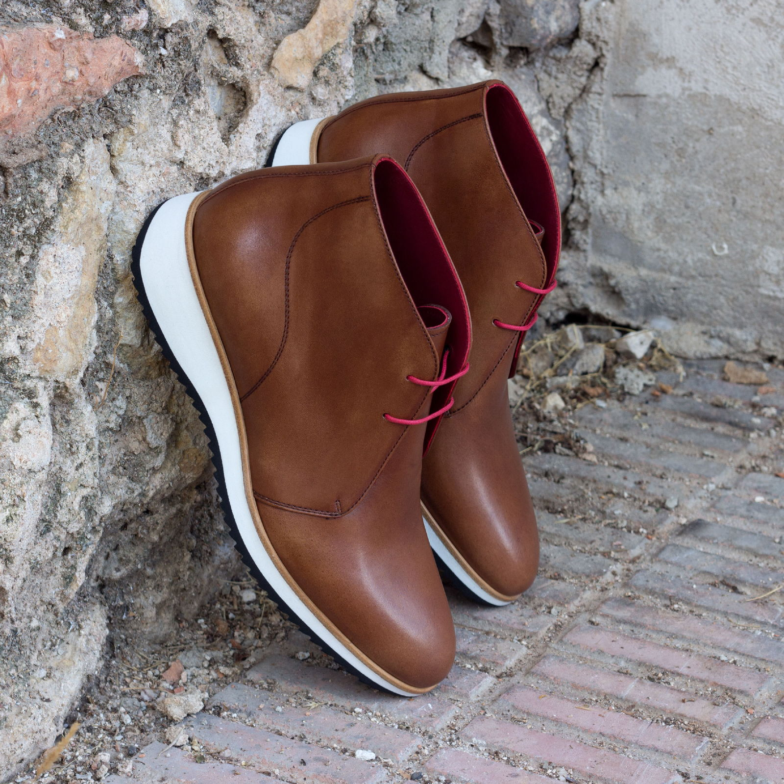 Chukka boot med brown painted calf : 250€