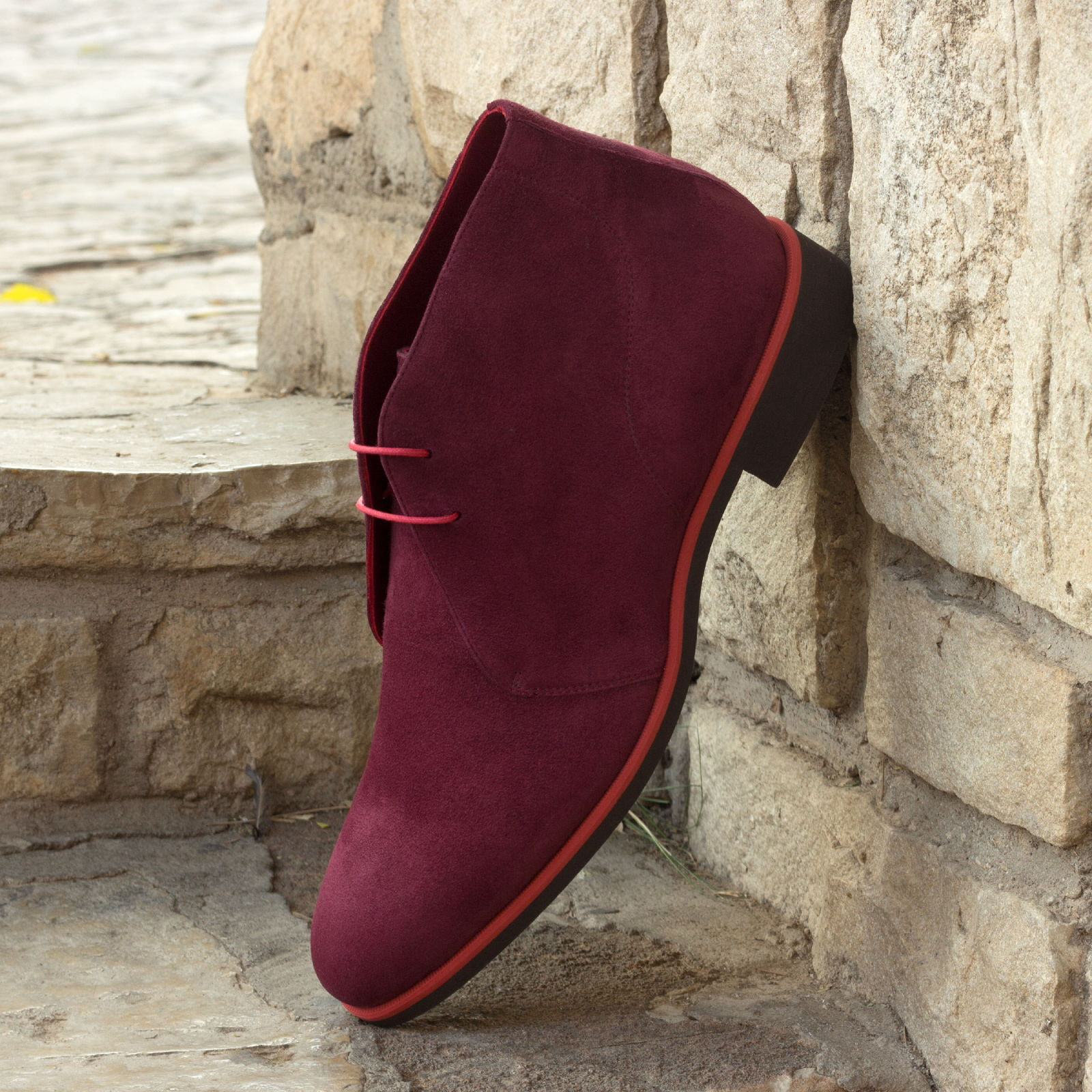 Chukka boot wine kid suede : 250€