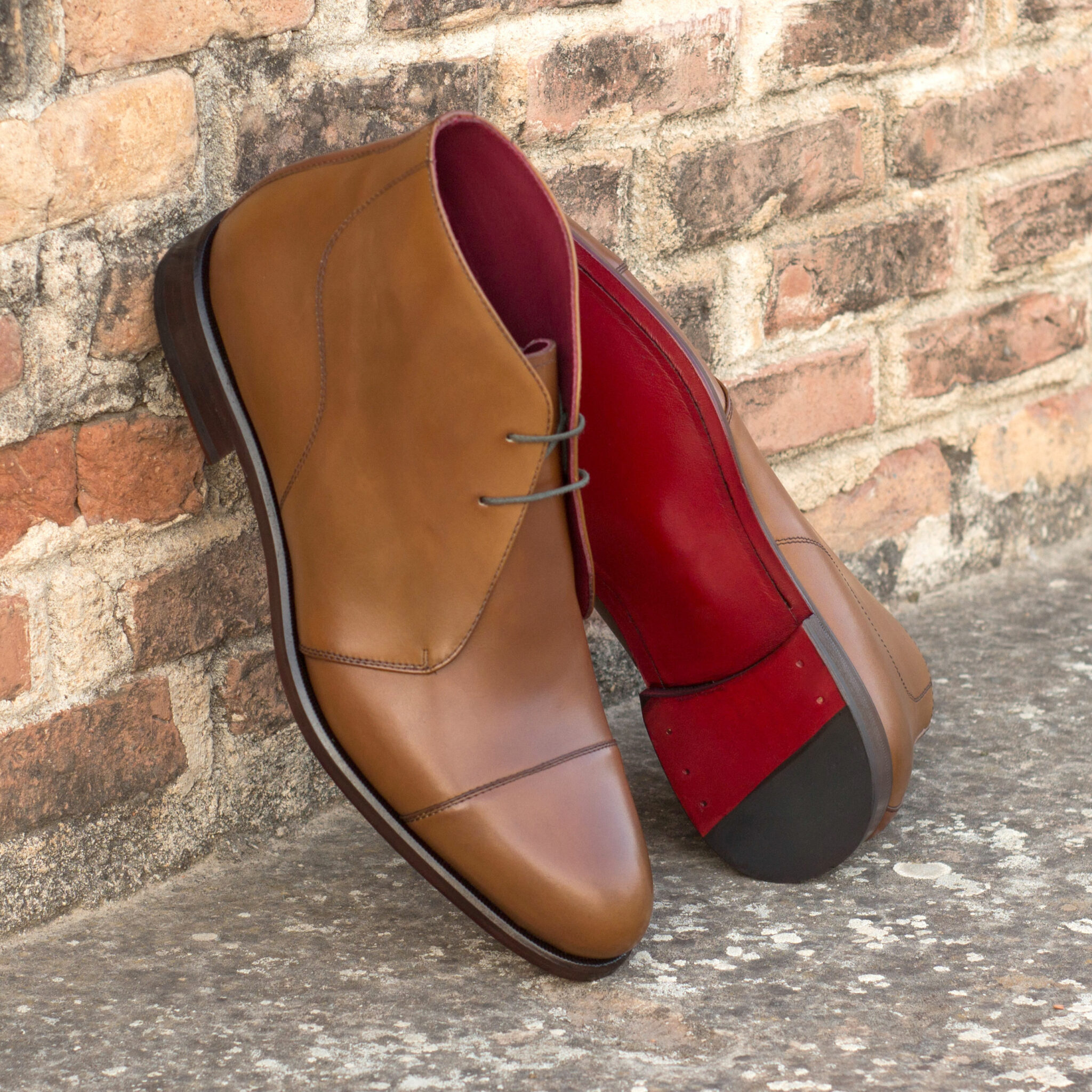 Chukka boot cognac box calf + med brown box calf : 250€