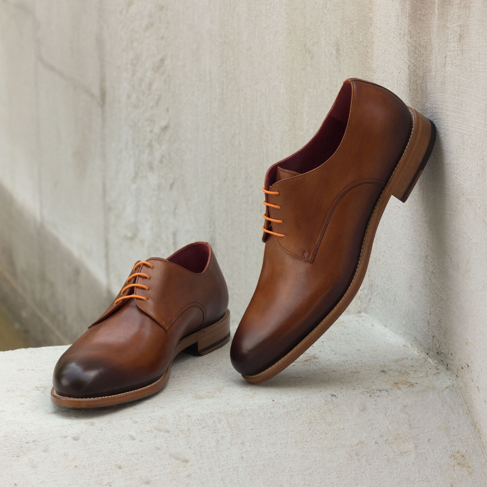 Derby cognac painted calf : 240€