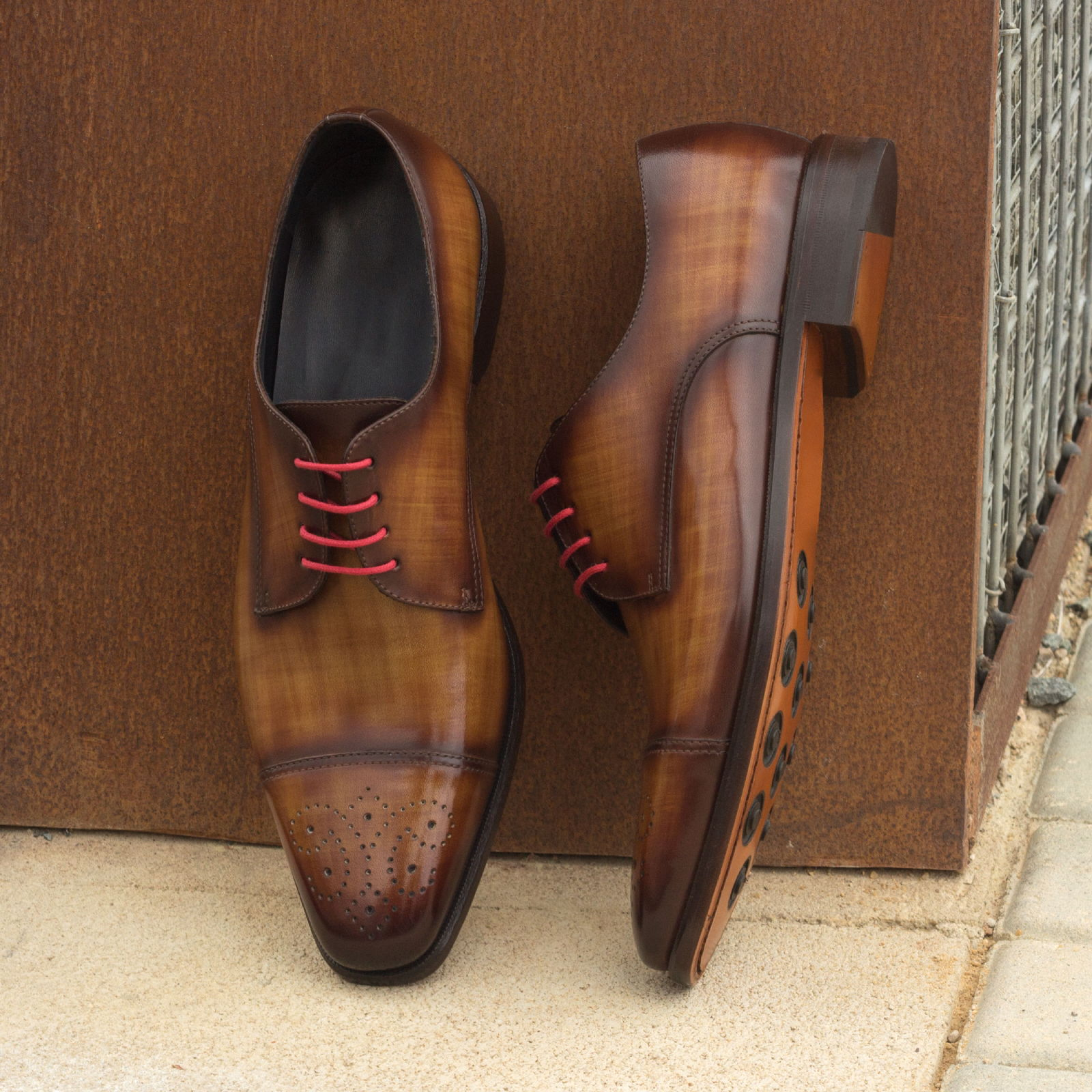 Derby cognac crust patina + brown crust patina : 330€