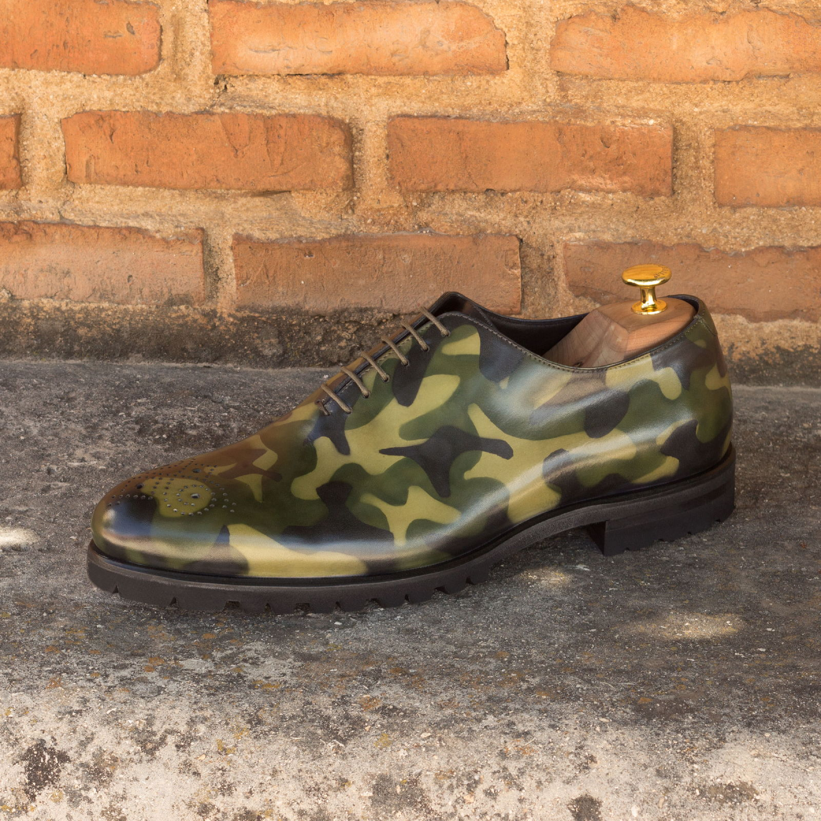 Whole cut  khaki camo patina : 330€