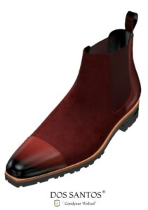 Chelsea boot Suede Red : 169 €